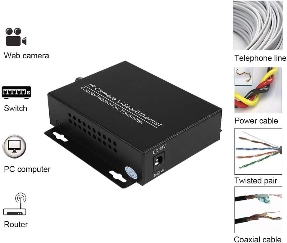 IP Extender sobre cable coaxial, Bewinner 1Pair IP HD Network Coaxial Extender, cable coaxial conector Q9, Plug and Play, convertidor EOC, máx. 2000 metros: Amazon.es: Electrónica