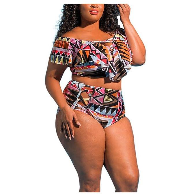 Amazon.com: inkach mujeres Sexy trajes de baño – tamaño Plus ...