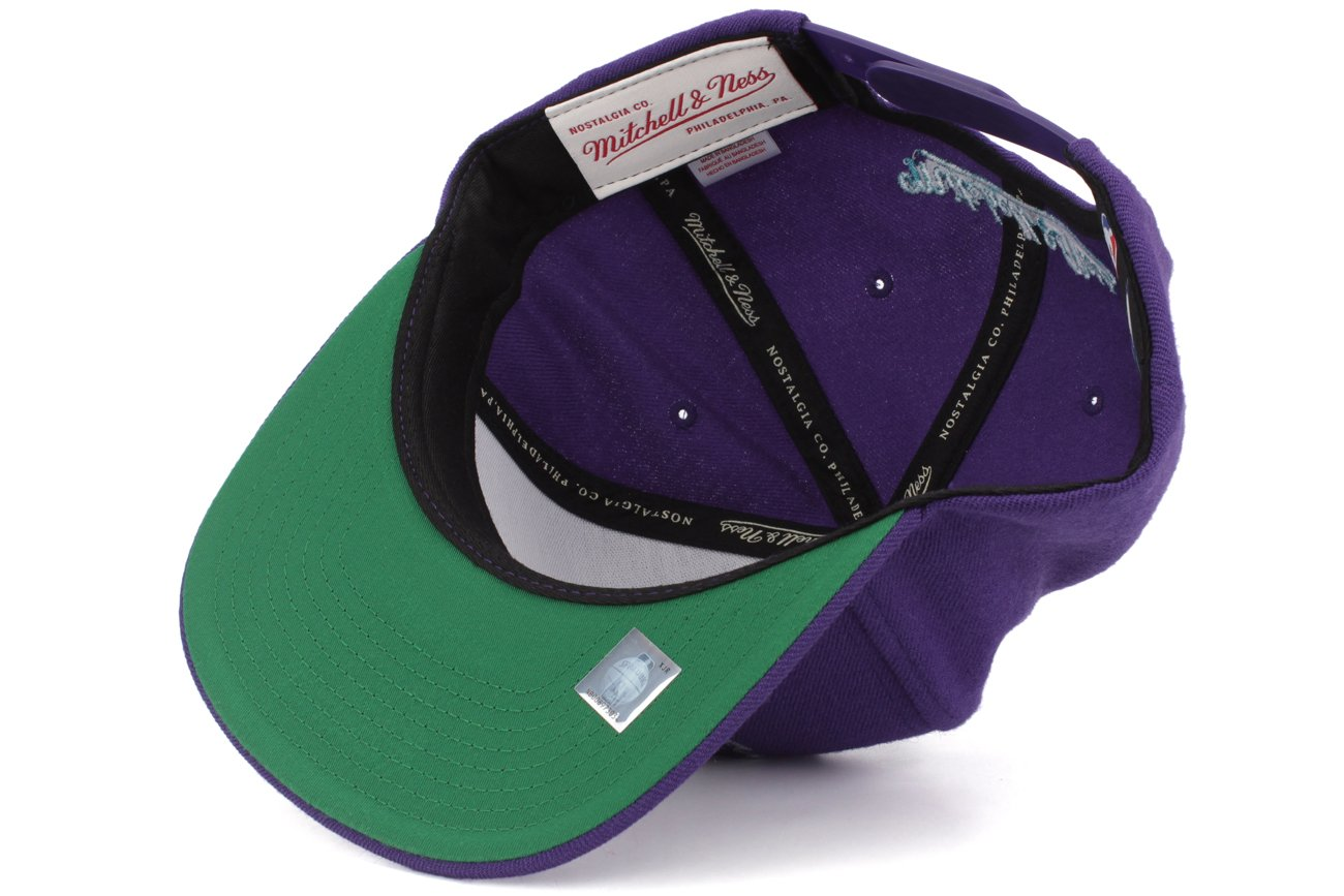 Amazon.com   Mitchell   Ness Charlotte Hornets New Logo Wool Solid Snapback  Purple   Sports   Outdoors 48f98a0f4937