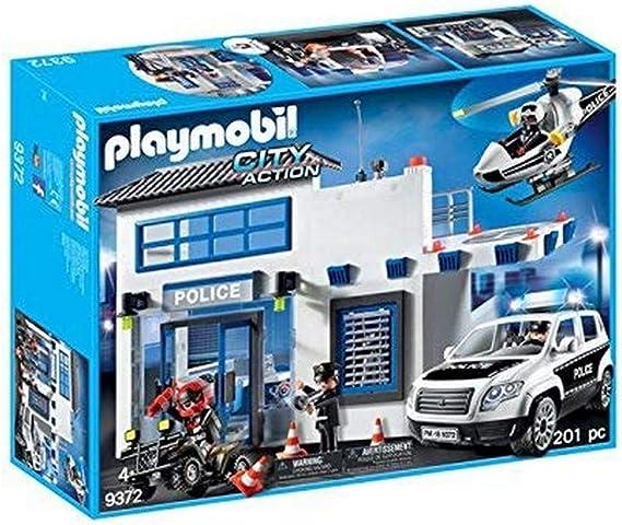 Playmobil- Poste de Police et véhicules, 9372