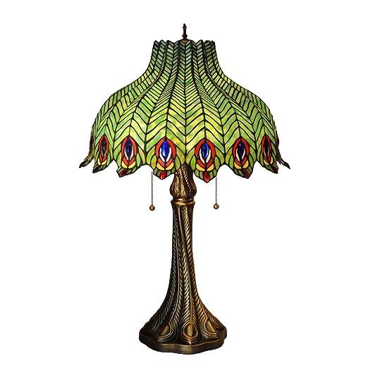 estilo con de verde vidrio cola Tiffanylámpara Lámpara de vNnOm0w8