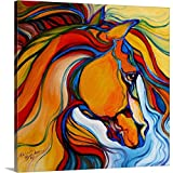 Marcia Baldwin Premium Thick-Wrap Canvas Wall Art Print Entitled Southwest Abstract Horse 20''x20''