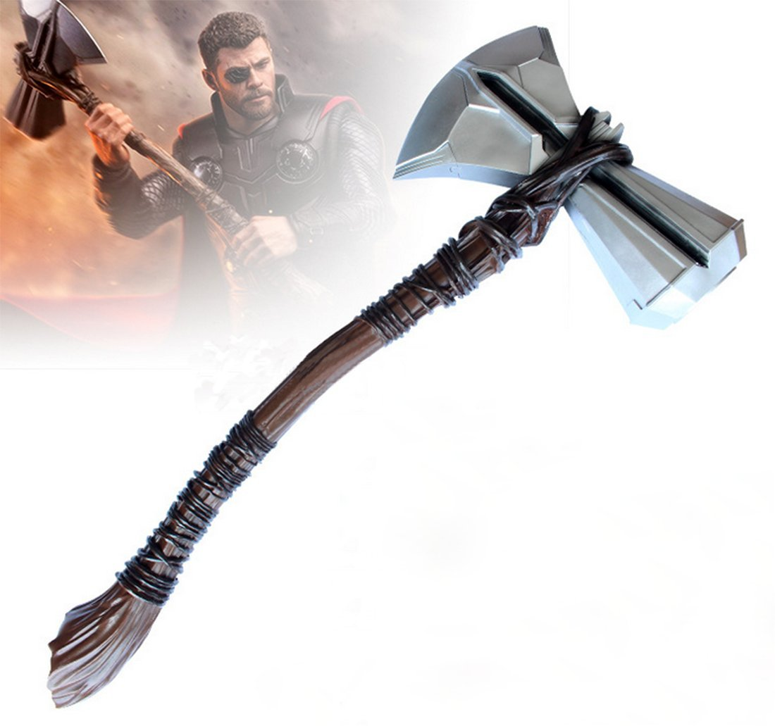 Gmasking 2018 Resin Norse Mythology Storm Axe Cosplay Hammer 1:1 Replica