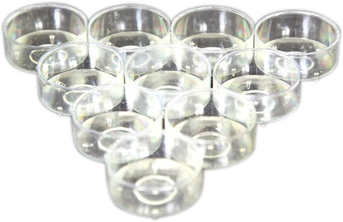 HEALLILY 100pcs Plastic Clear Tealight Cups Holders Candle Wax Tins Candle Containers Mold for Candle Making