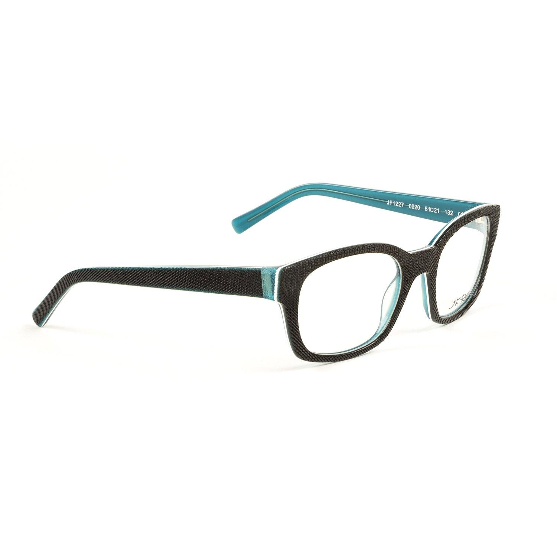 b1e212b0f90 J.F. Rey Square Eyeglass Frames 51mm Black Turquoise at Amazon Women s  Clothing store