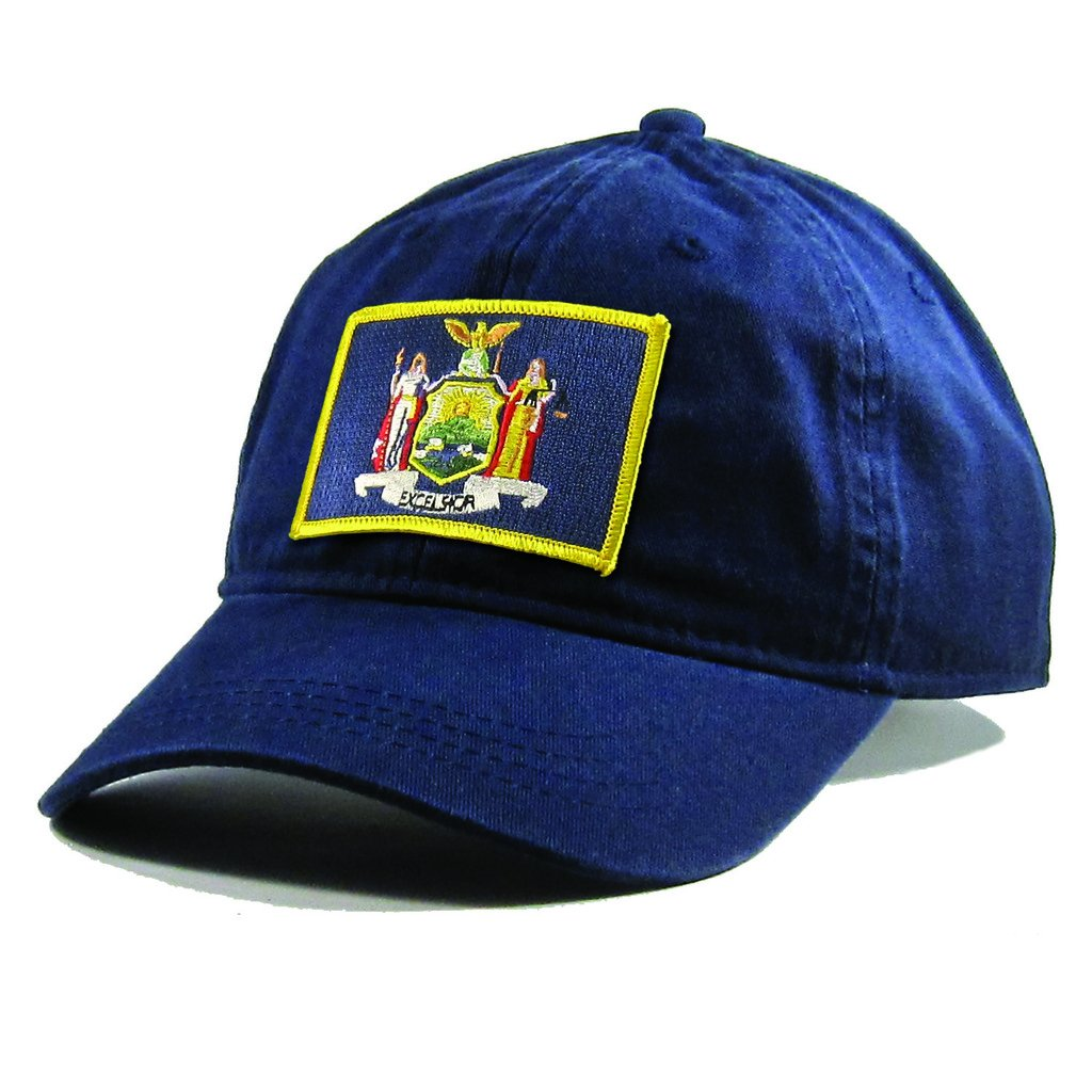 Homeland Tees Mens New York Flag Patch Cotton Twill Hat