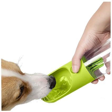 mascotas perros accesorios, Sannysis Botella de dispensador de agua portátil de viaje para mascotas Caldera