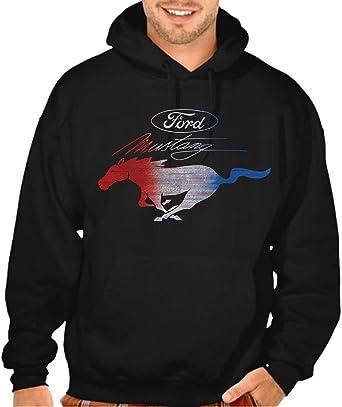 Amazon.com  Men s RWB Ford Mustang Black Pullover Hoodie Sweater ... 5ee25be8cd