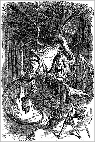 24x36 Poster; Illustration To The Poem Jabberwocky, Lewis Carroll 1871