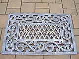 Oakland Living Welcome Cast Aluminum Doormat, Antique Pewter Review