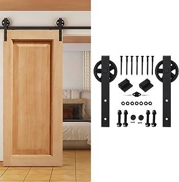 homedeco hardware 5 ft estilo rústico puerta corrediza de madera ...