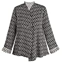 Women's Reversible Knit Travel Black and White Jacket - Large