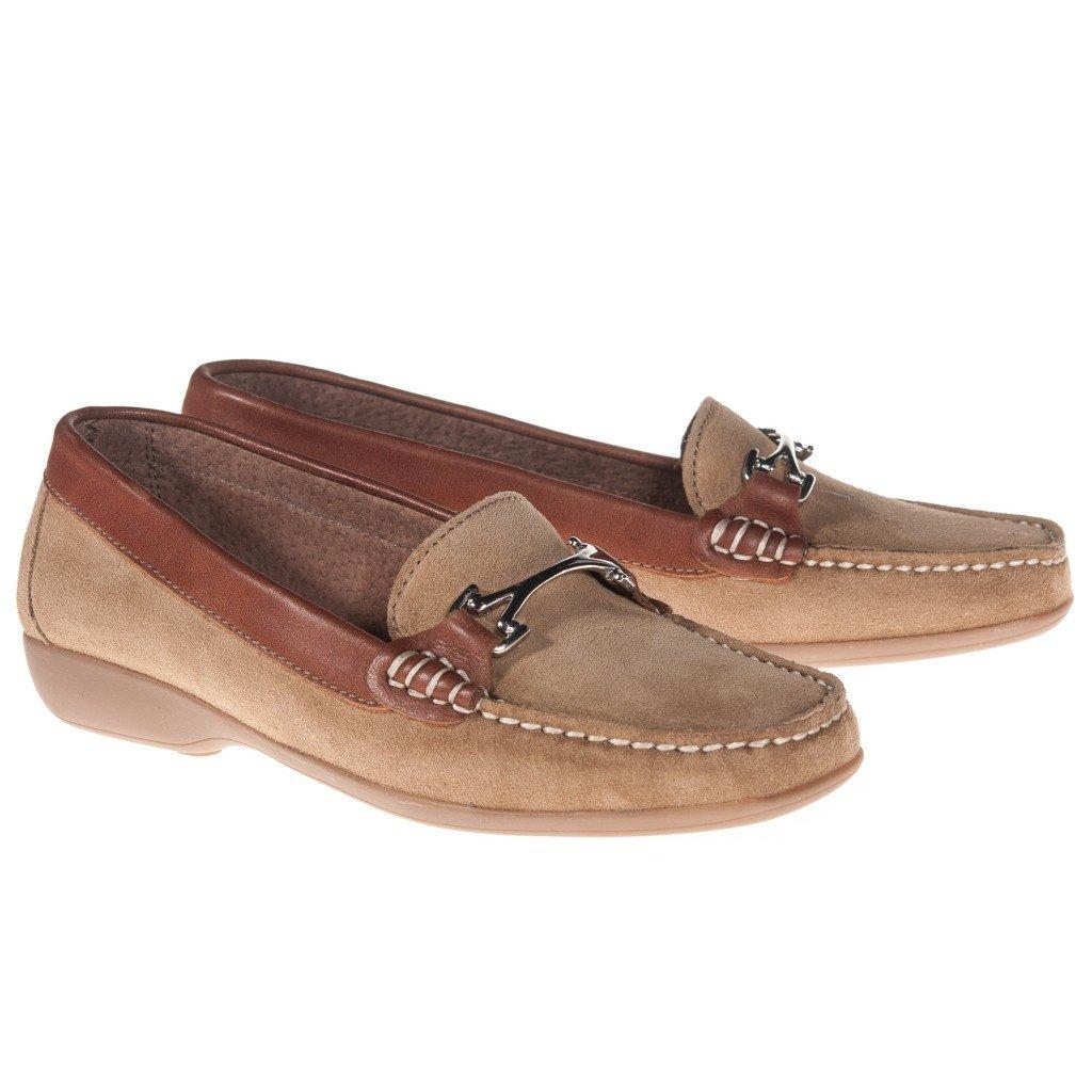 Castellanisimos Mocasin Piel Serraje Mujer Marrón - Color - Mushroom, Tallas - 41: Amazon.es: Zapatos y complementos