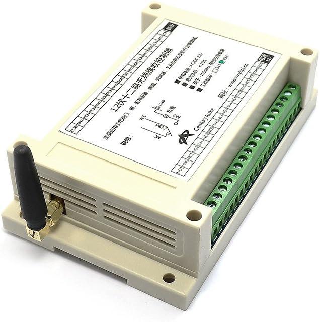 Q-BAIHE DC12V 12 CH Receiver RF 12 Buttons Remote Control 433