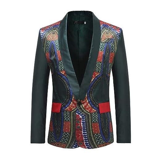 Mens Jacket Coat Winter African Dashiki Coats Mens Cardigan Jackets Long Sleeve Printed Casual Overcoat Parka