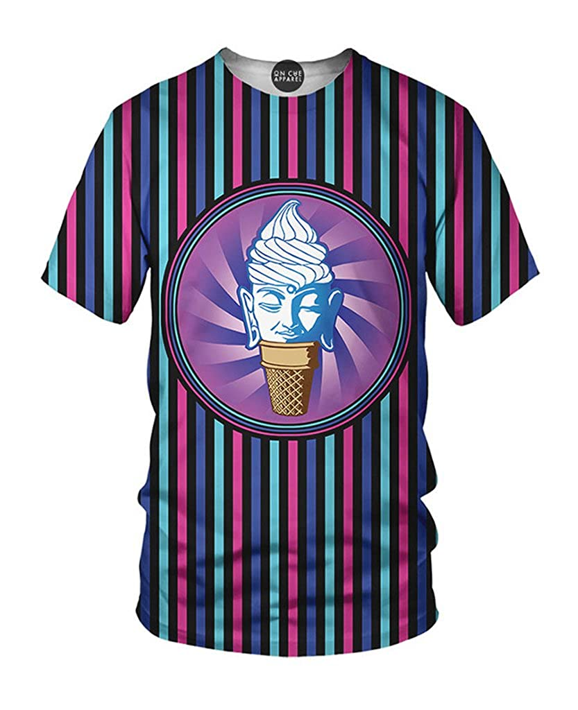 On Cue Apparel Buddha T Shirt All Over Print Graphic Rave Shirts
