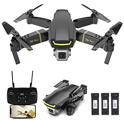 GoolRC GW89 RC Drone with Camera 1080P HD WiFi FPV Drone, Gesture Photo Video Altitude Hold Foldable RC Quadcopter with 3 Battery: Toys & Games