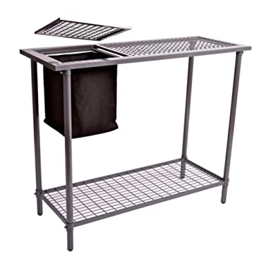 Potting Bench - Weatherguard Garden and Greenhouse Workbench Portable Gardening Center - Features removable trimmings bin and adjustable shelf (39 W x 32 H x 15 D)