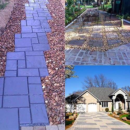 go2buy 3PCS Paving Pavement Concrete Mould Stepping Stone Mold Garden Lawn Path Paver Walk,23.8 x 19.9 x 1.7'' (LxWxH)