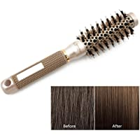 Hamkaw Round Brush For Blow Drying With Natural Boar Bristle For Long And Short Hair Round Brush For Styling,Curling Hair Brush For Women (Upgraded Version)