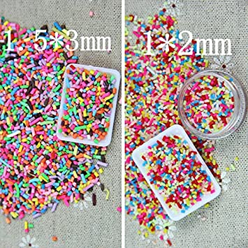 FidgetFidget Clay Colorful Fake Candy Sweets Sugar Sprinkles Decoration A1
