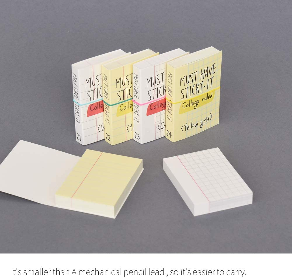 Diary Memo Monolike Must Have Sticky Squared 4p SET Self-Adhesive Memo Pad 80 sheets Daily Sticky