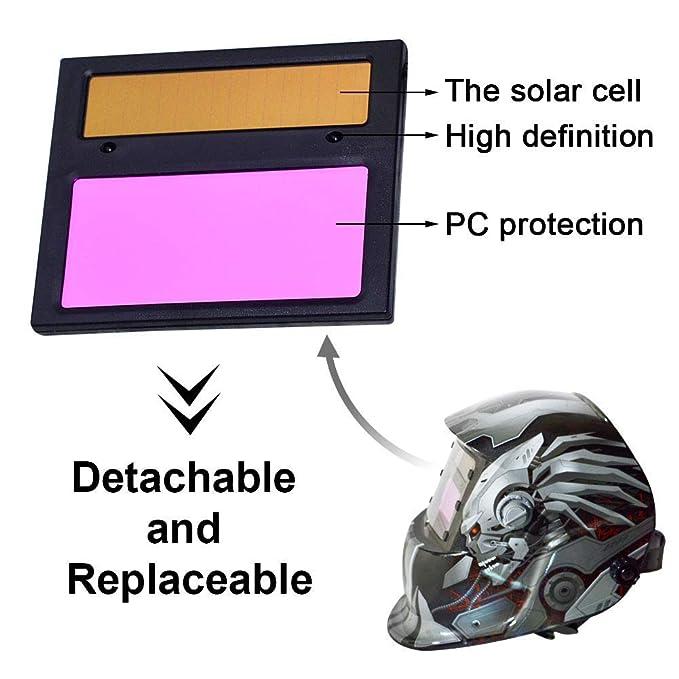 MTSBW Casco De Soldadura Energía Solar Capa Oscurecimiento Automático Soldador Máscara Cascos Pulido Transpirables con Rango Sombra Ajustable: Amazon.es: ...