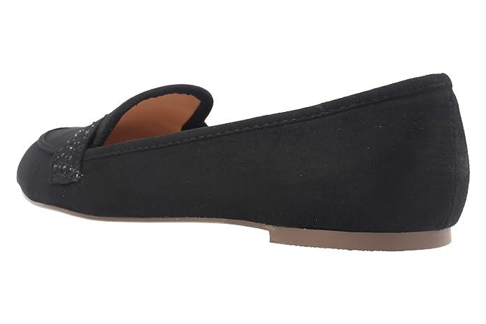 Fitters Footwear - Bailarinas de Material Sintético para mujer Negro negro, color Negro, talla 45 UE