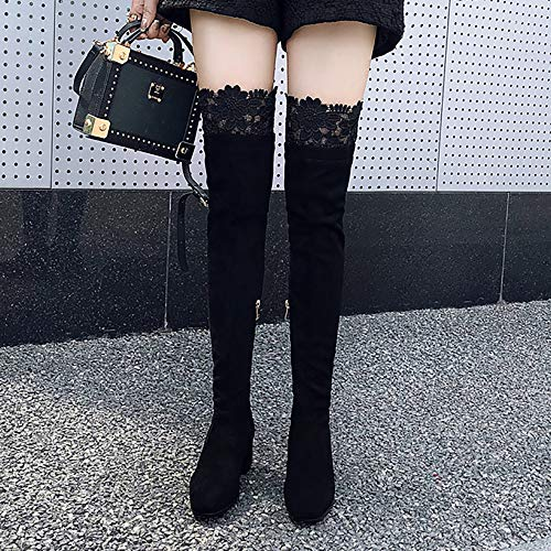Over Heel The Women Knee Mid Razamaza Fashion Boots Nero HqCAIw6xt