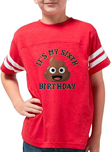 Youth Girls T-Shirt Poop Emoji S XL YOUTH SIZES