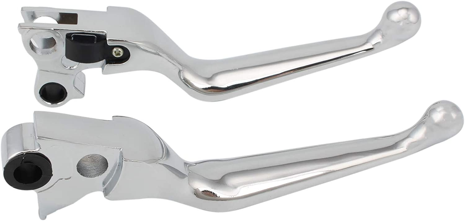 Brake Clutch Hand Lever Chrome Handle Levers Aluminum For Harley Sportster XL 883 1200 Dyna Softail Fat Boy Touring Road King Street Glide