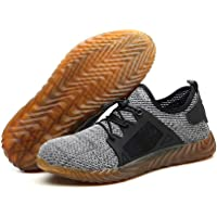 Mens Safety Trainer Shoes, Womdee Work Safety Shoes for Men Steel Toe Trainers Lightweight Work Shoes Women Breathable Industrial Sneakers
