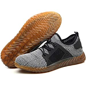 8d93e7912f7 Men Casual Sports Running Shoes Womens Mens Safety Steel Toe Cap ...
