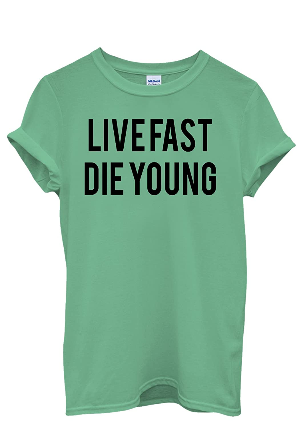 Live Fast Die Young Alcohol Drugs Men Women Damen Herren Unisex Top T Shirt- XXL: Amazon.de: Bekleidung