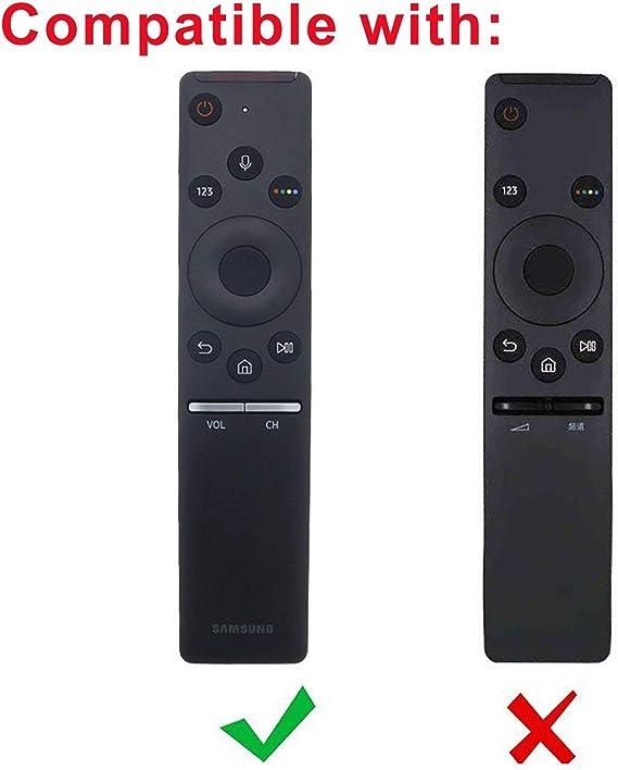 MWOOT Funda Compatible con Mando de Samsung 4K UHD Smart TV (Mando de Smart TV Samsung BN59-01241A BN59-01242A BN59-01292A), Negro Silicona Carcasas: Amazon.es: Electrónica