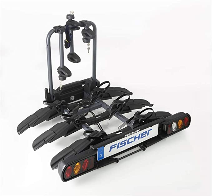 Fischer Kupplungsfahrradträger Prolineevo 3 I Fahrradträger Anhängerkupplung I Fahrradträger Auto I Fahrradträger E Bike Auto