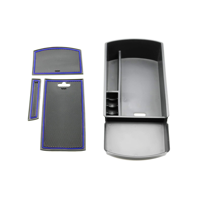 R RUIYA 2018 Accord Car Accessory Center Console Organizer Tray Armrest Storage Box Compatible LX Sport EX EX-L Touring EX-L Red
