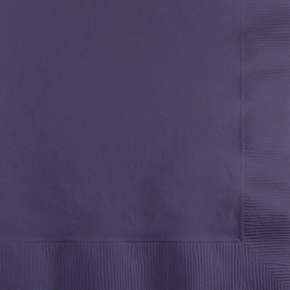 Creative Converting 59115B Purple Dinner Napkin, 3 Ply, 1/4 Fold Solid (10pks Case) by Creative Converting