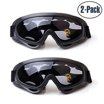 3917a6c8adb Yithings Gafas de esquí 2 Piezas Gafas al Aire Libre de Nieve Gafas de  Protección UV