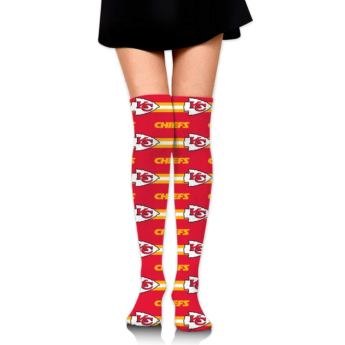 Sorcerer Custom Girls Over Knee High Boot Stockings Leg Warmers Kansas City Chiefs Women's Polyester Thigh High Socks Gift by Sorcerer