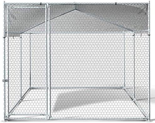 Enclos Bogota 8 m/² Parc grillag/é 2 x 4 x 1.6 M Acier galvanis/é avec Filet IDMarket