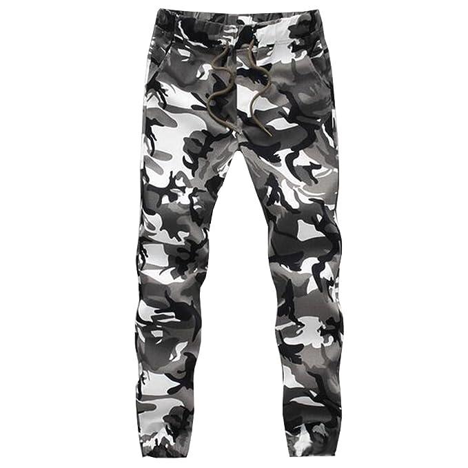 BOZEVON Pantalones de Camuflaje de los Hombres Pantalones Deportivos  Deportivos Pantalones Deportivos Ocasionales de Jogging Skinny e00f0d6cff8