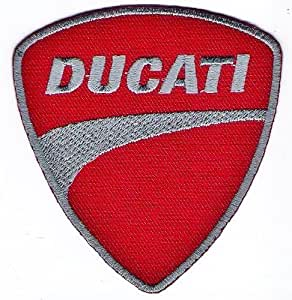 Red Ducati Badge Logo Sign Symbol Embroidery Embroidered Sew On Iron On Patch