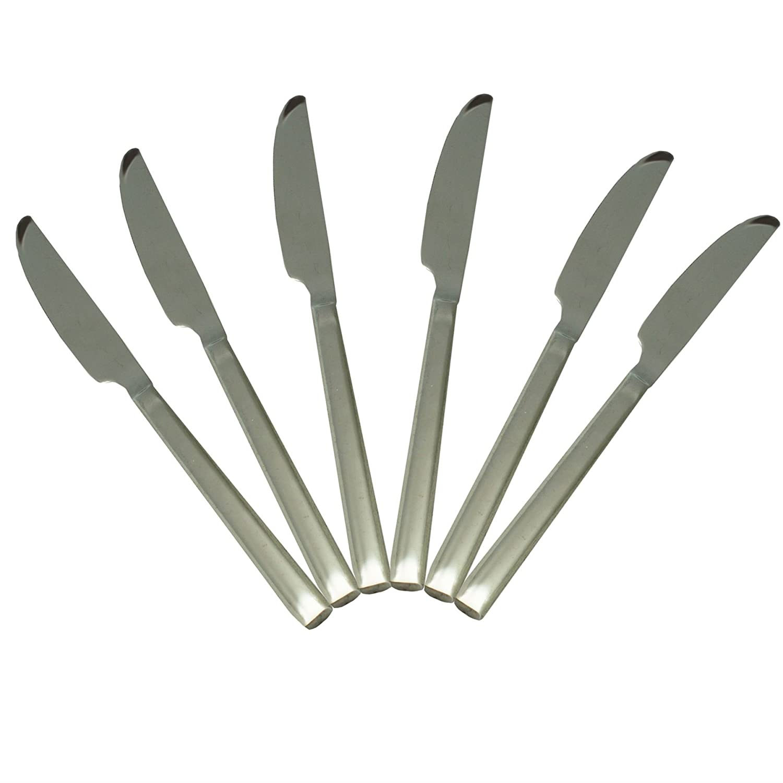 Argon Tableware Tondo Stainless Steel 18/0 Dinner Knives - Set of 6