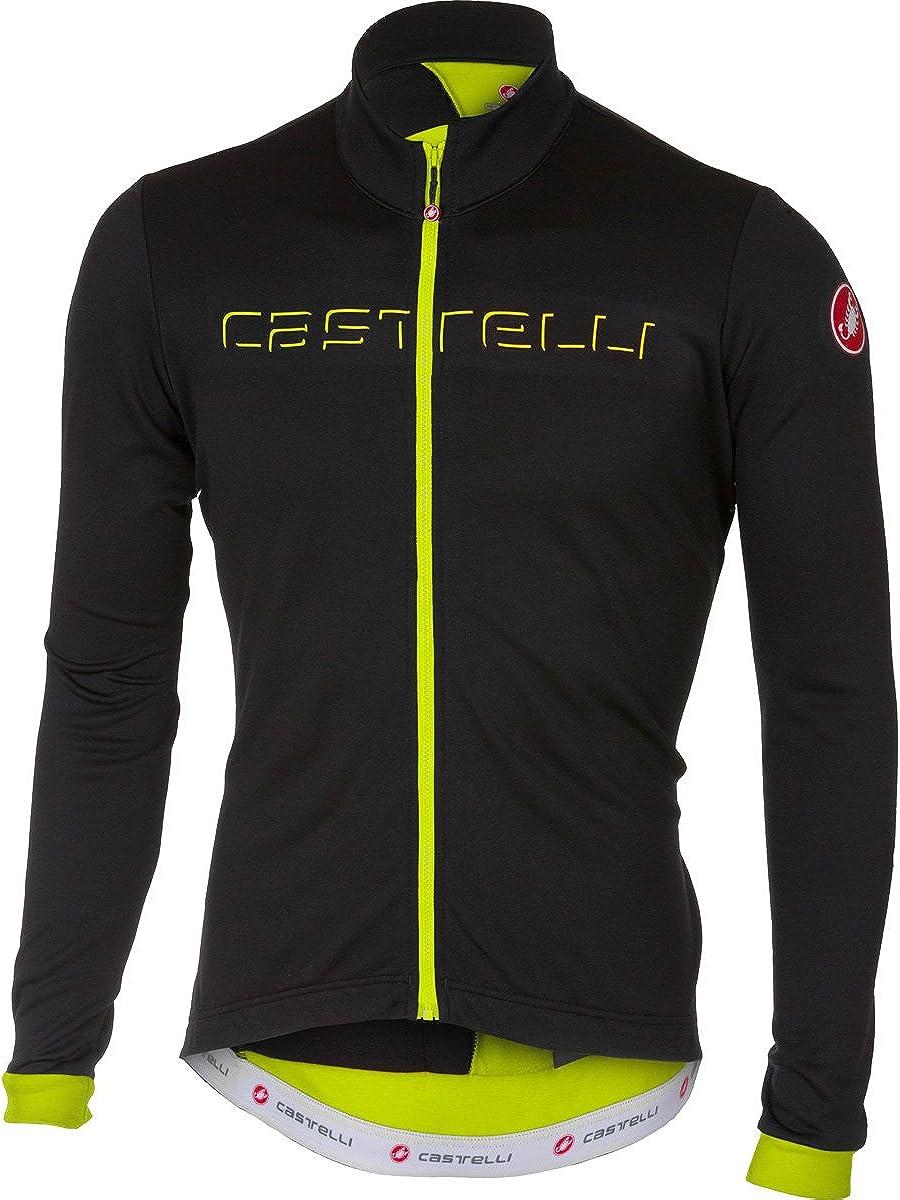 Maillot de ciclismo para hombre con efecto invernal Fondo FZ Castelli Camiseta t/érmica que absorbe la humedad para clima fr/ío