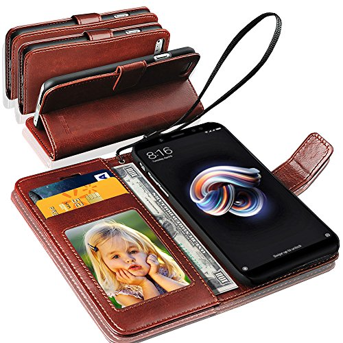 GBOS Flip Cover for Xiaomi Redmi Note 7  Leather/Brown