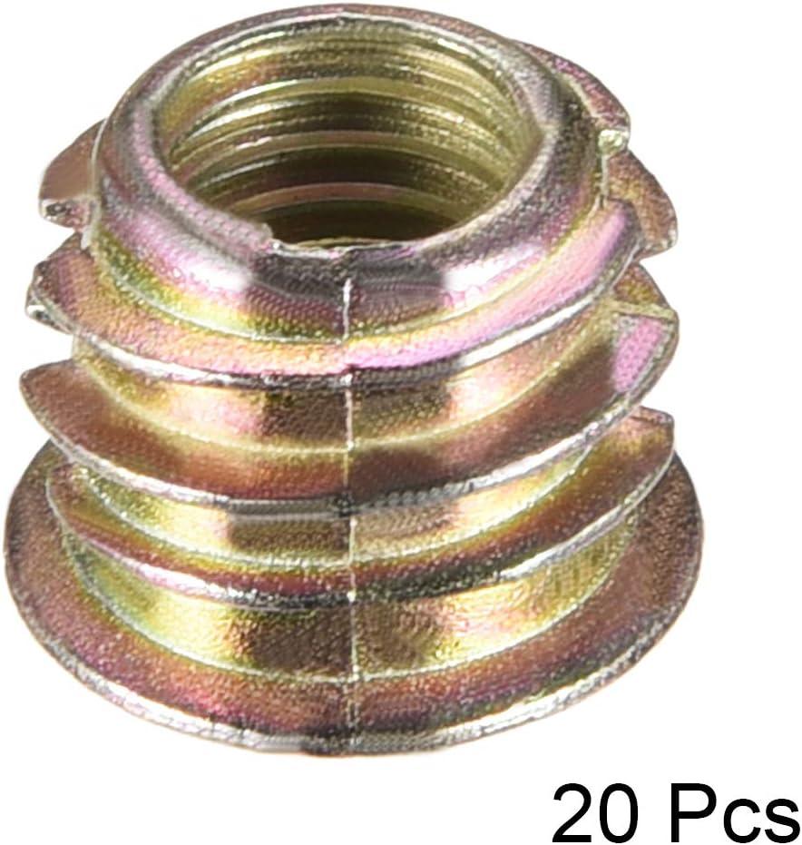 Gewindeeinsatz Muttern Zinklegierung Innensechskant M8 Inner 10mm L/änge sourcing map 30Stk