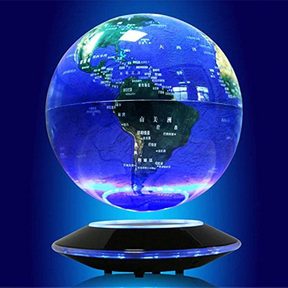 TBVECHI 6 Inch Blue Levitating Globe Anti Gravity Rotating World ...