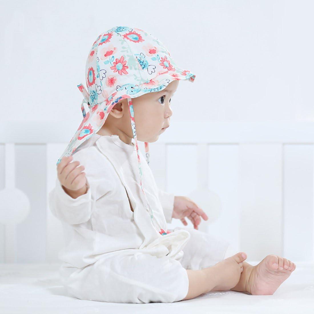 Boomly Baby Sonnenhut mit Nackenschutz Quick Drying Schirmm/ütze Outdoor Reise UV-Schutz Sommerm/ütze mit Kinnriemen