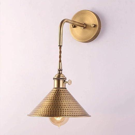 Retro mini lámpara de pared Creativa dormitorio Interruptor Luz a la pared del pasillo del pasillo
